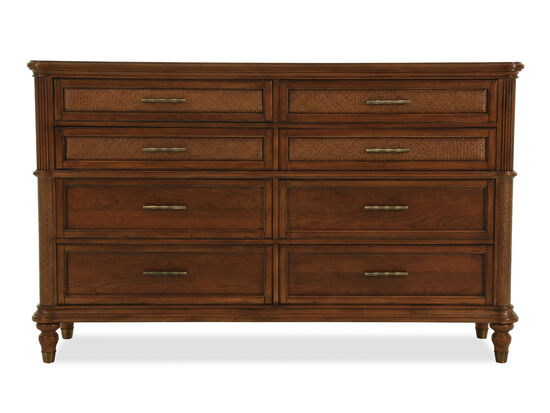 "42"" Casual Basket Weave Textured Dresser in Brown"