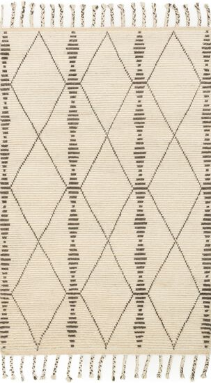 "Transitional 2'-0""x3'-0"" Rug in Ivory/Pebble"