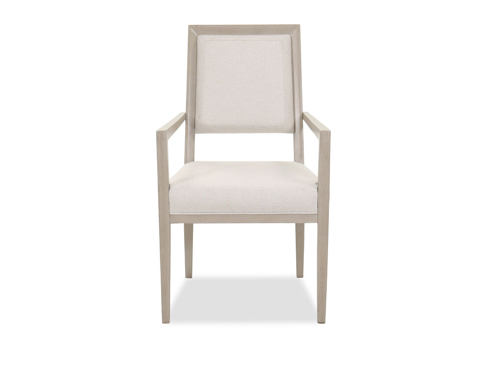"""Transitional 39"""" Arm Chair in Beige"""
