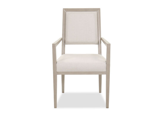 "Transitional 39"" Arm Chair in Beige"