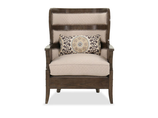 Traditional Wingback Chair in Brown
