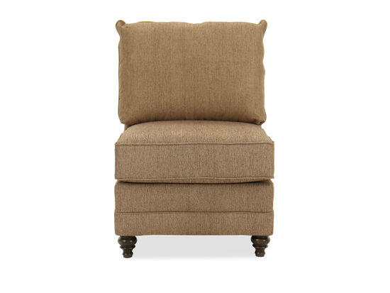 Casual Armless Chair in Brown