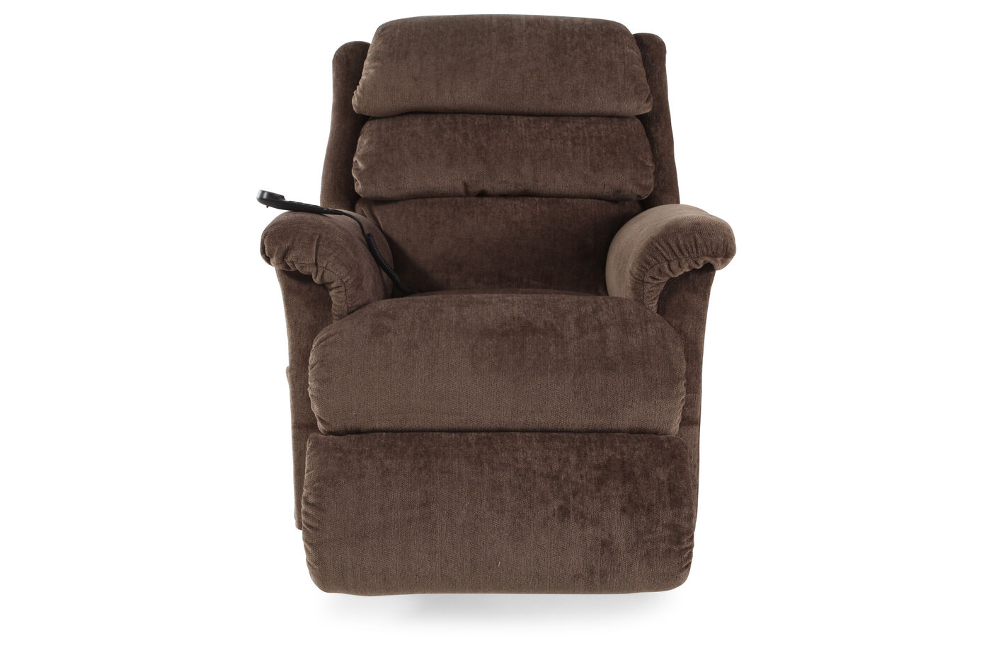 Contemporary 35 recliner in mocha mathis brothers furniture for Furniture 35