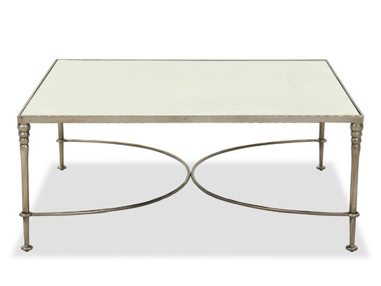 """Contemporary 44.5"""" Cocktail Table in Dark Silver/Bronze/Gold"""