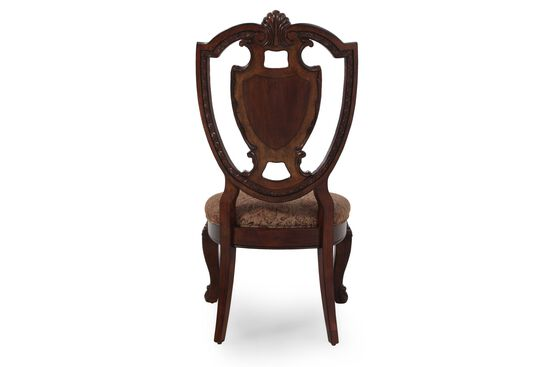 Shield-Frame 44.5'' Side Chair in Dark Pomegranate