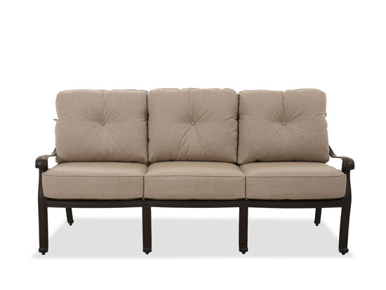Casual Button-Tufted Sofa in Brown