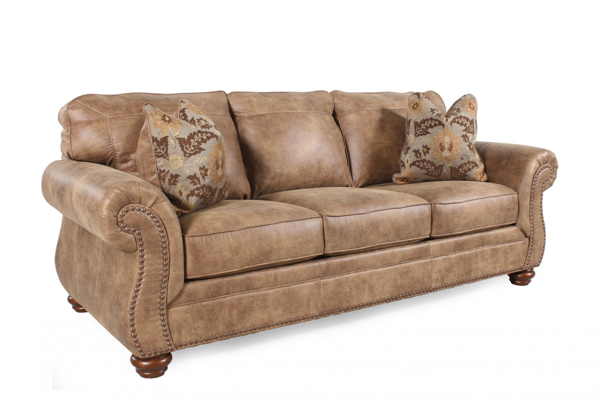 Traditional Rolled Arm 89u0026quot; Sofa In Southwestern Earth Tone