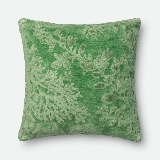 """Contemporary 22""""x22"""" Cover w/Poly Pillow in Kiwi"""