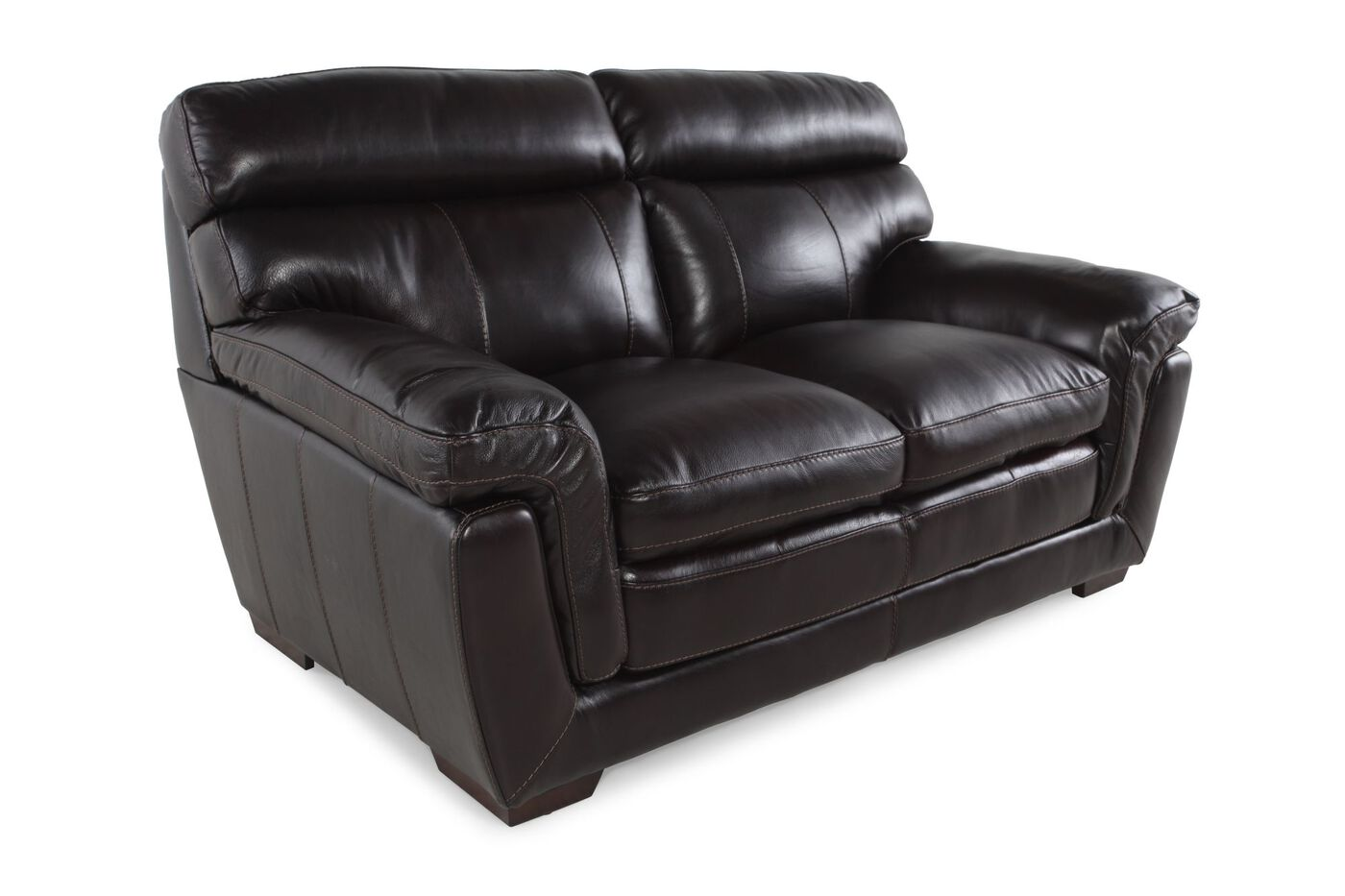 Casual Leather 68 Quot Loveseat In Blackberry Mathis