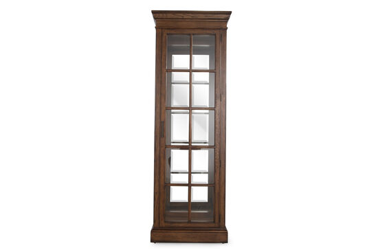 Traditional Windowpane Curio in Dark Oak Pemberly