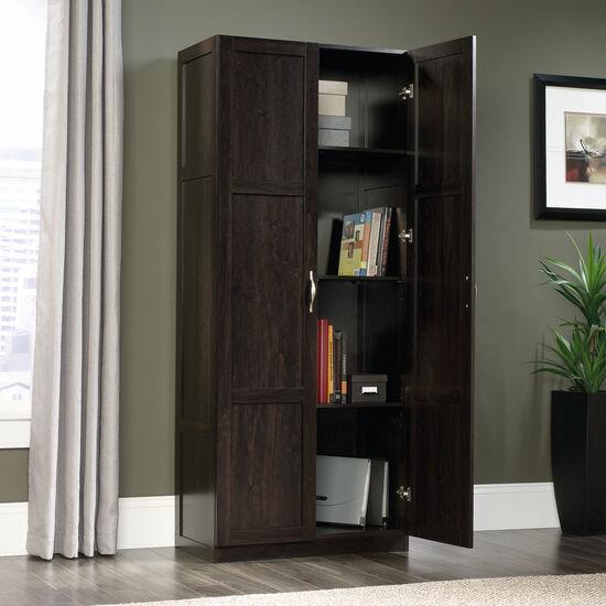 Two-Door Contemporary Storage Cabinet in Cinnamon Cherry