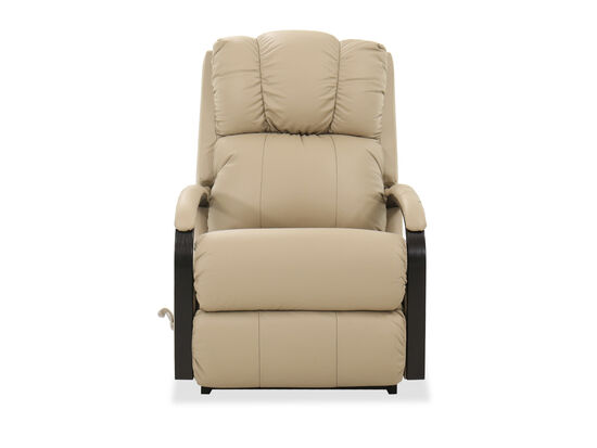 "30"" Leather Rocker Recliner in Beige"