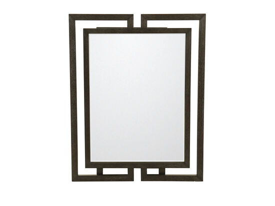 """48"""" Traditional Mirror in Cerused Mink"""