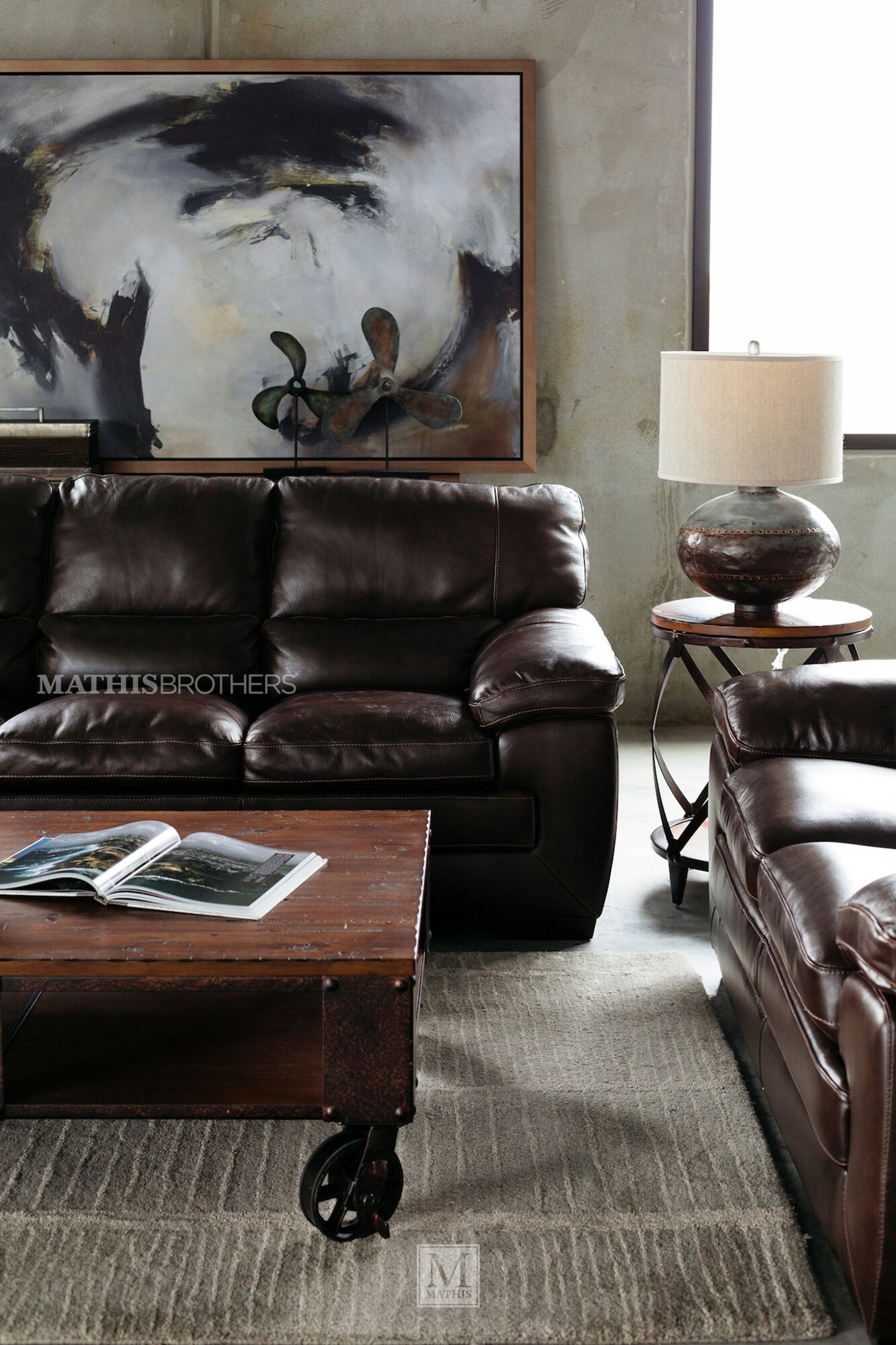 "Brown Leather Couches Living Room Decor Red Accents: 87"" Leather Sofa In Dark Brown"