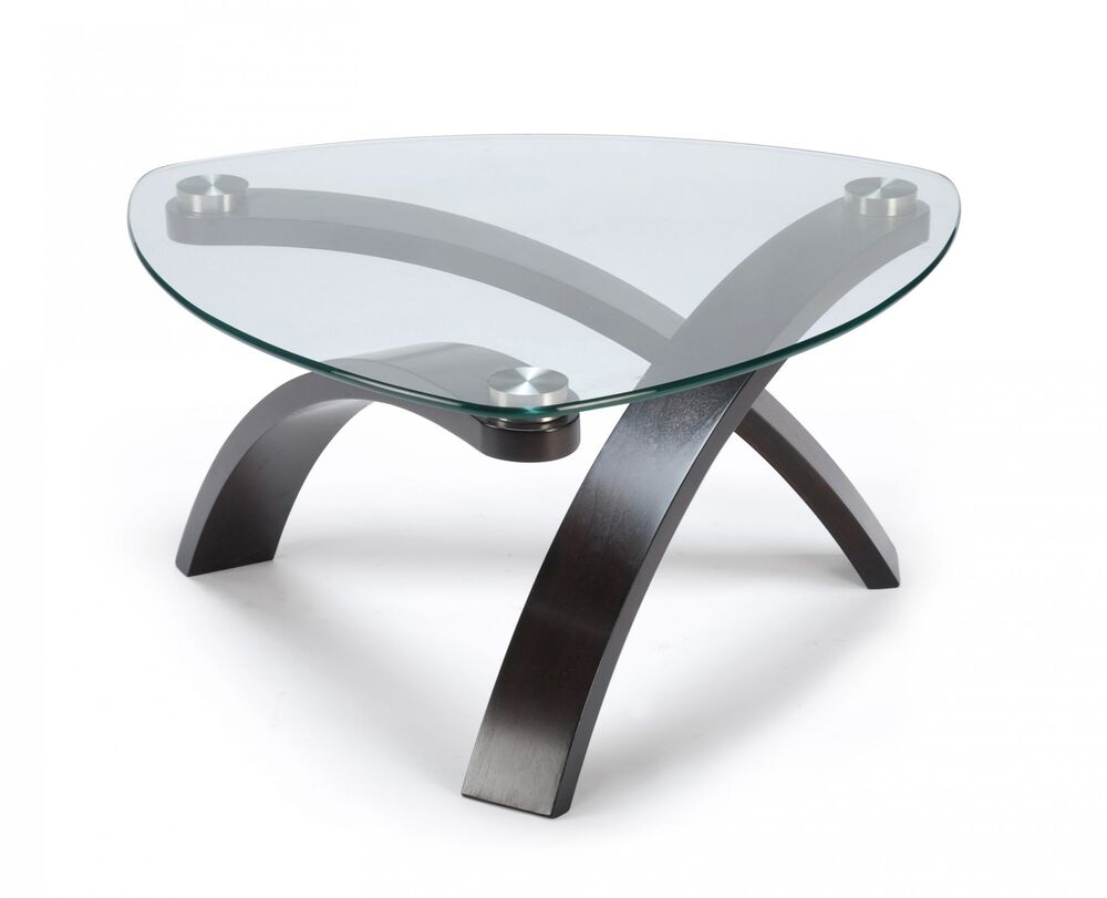 Glass-Top Contemporary Cocktail Table