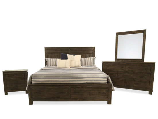 Four-Piece Transitional King Suite in Brown
