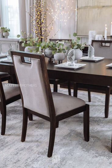 "Contemporary 17"" Dining Chair in Espresso"