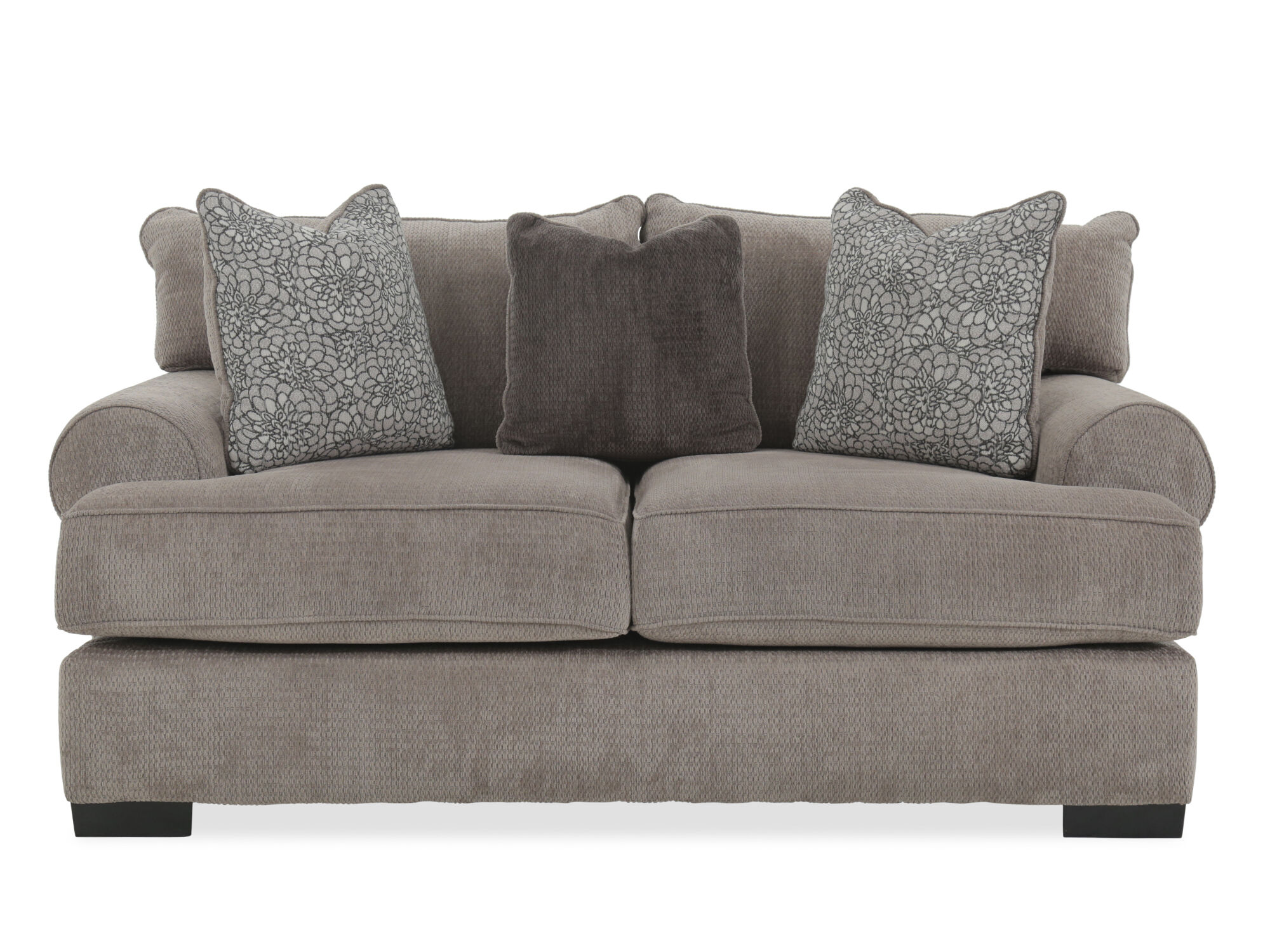 Textured contemporary 71 loveseat in gray mathis brothers furniture