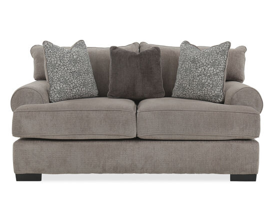 "Textured Contemporary 71"" Loveseat in Gray"