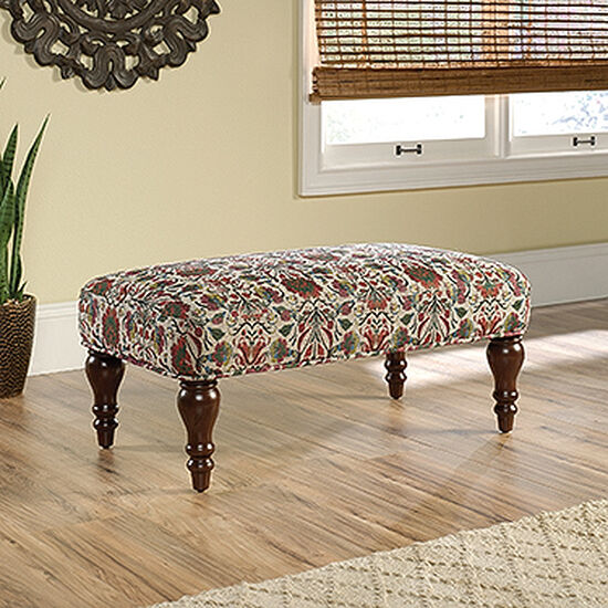 "Contemporary 36"" Floral Patterned Accent Bench"