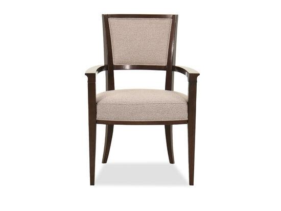 Contemporary 37'' Arm Chair in Bourbon Glaze