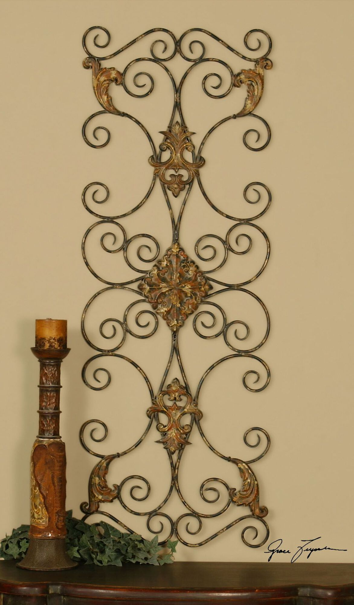 Hand-Forged Ornate Scroll Wall Art | Mathis Brothers Furniture