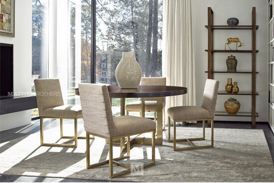 """Mid-Century Modern 34"""" Side Chair in Bronze"""