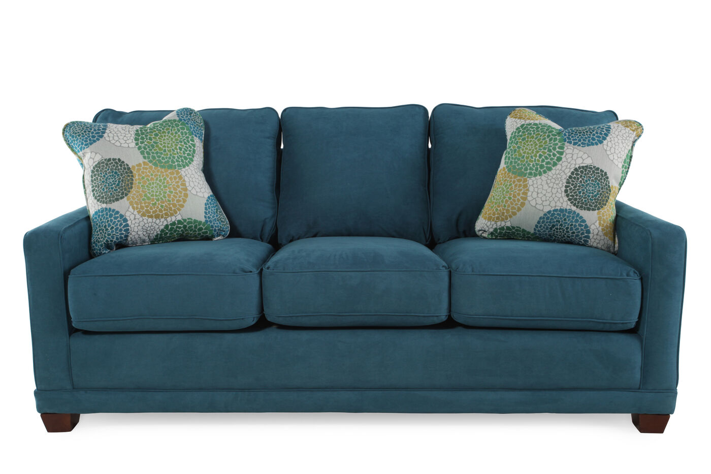 casual 77 sofa in teal mathis brothers furniture. Black Bedroom Furniture Sets. Home Design Ideas