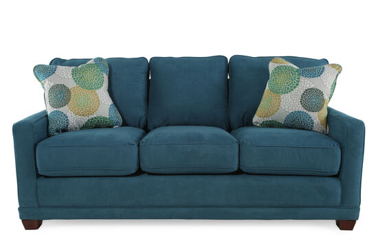 Casual 77 Quot Sofa In Teal Mathis Brothers Furniture