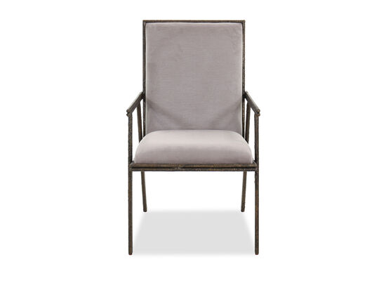 "Transitional 22"" Arm Chair in Gray"