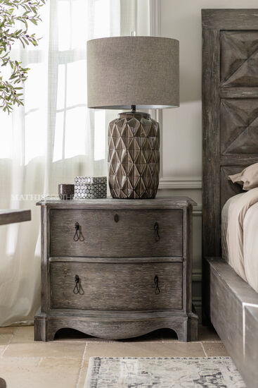 """30"""" Traditional Two-Drawer Nightstand in Shale"""