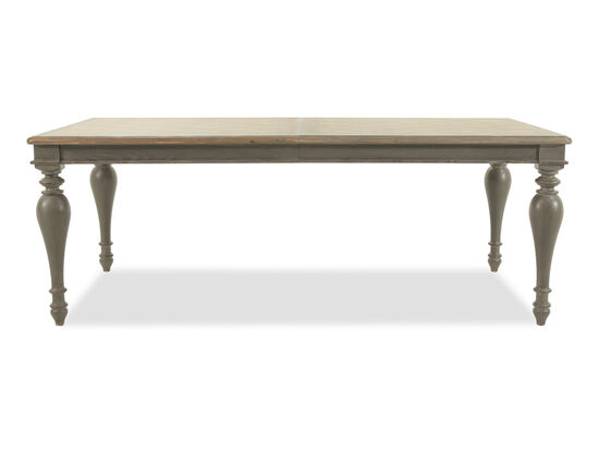 "European Classic 44"" to 120"" Rectangular Dining Table in Dark Gray"
