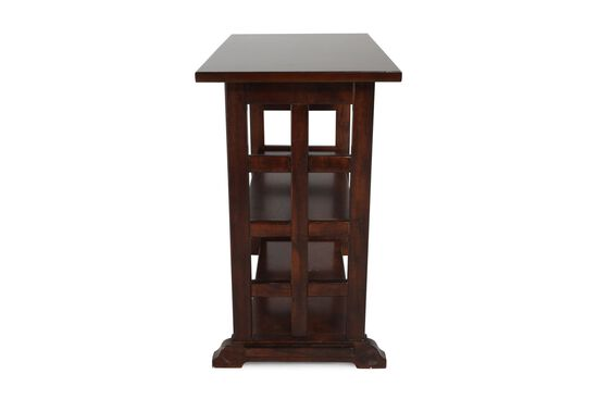 Rectangular Contemporary Chairside Tablein Cherry Brown