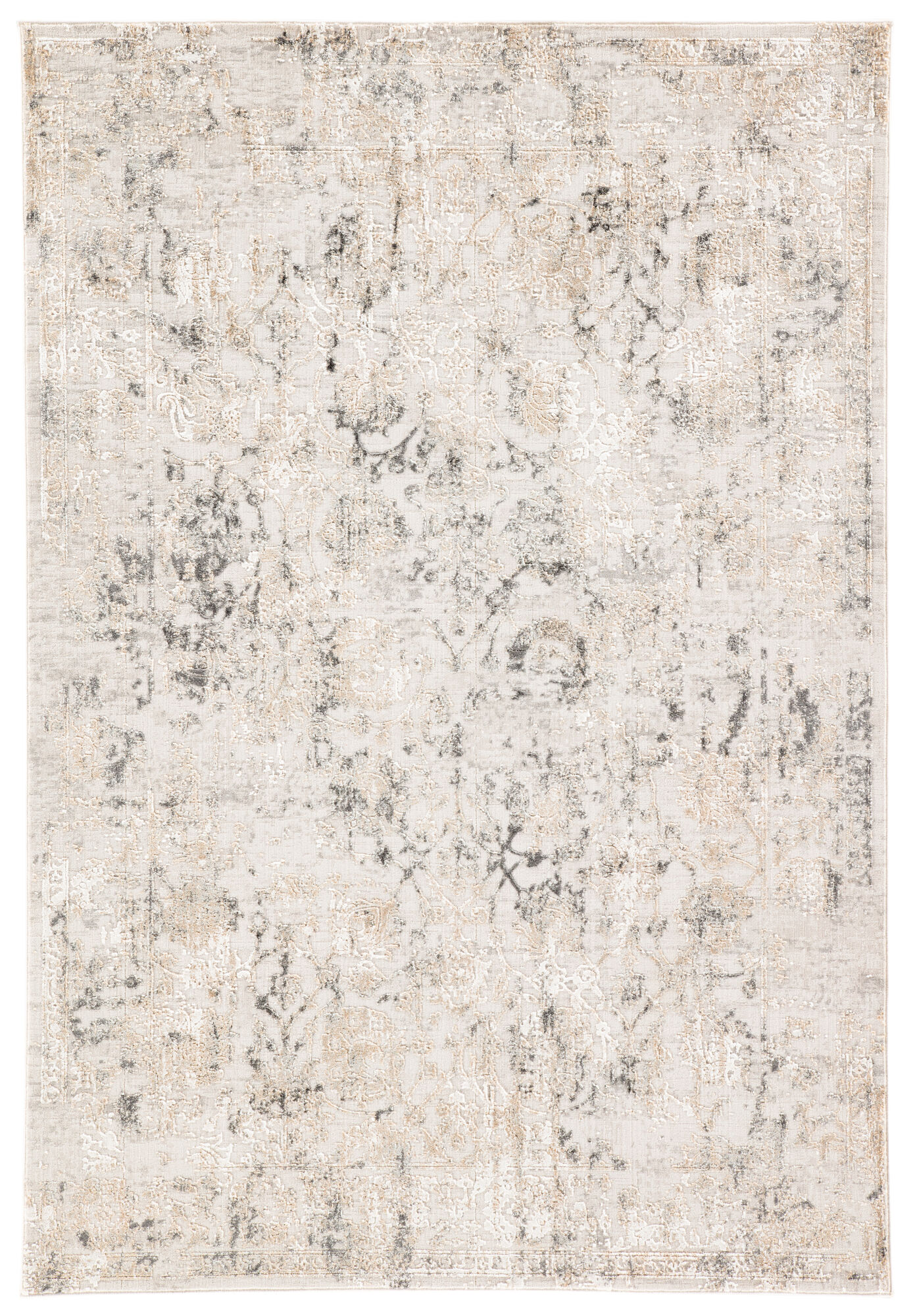 Clara Floral Gray Area Rug 10 X14 Mathis Brothers Furniture