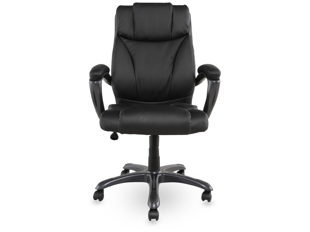 Leather Padded Executive Swivel Tilt Chair in Black