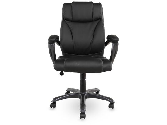 Leather Padded Executive Swivel Tilt Chair Nbsp In Black