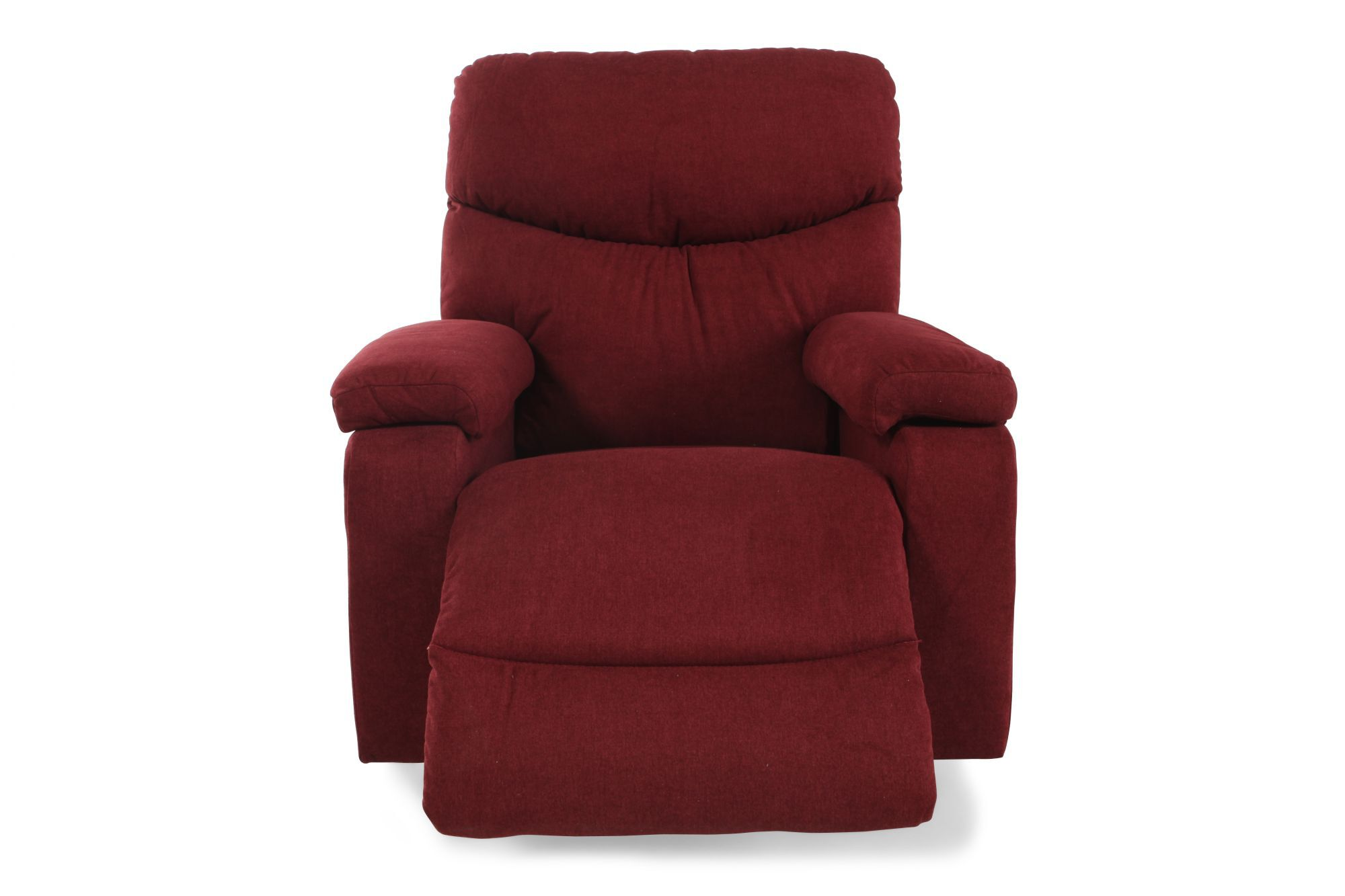 Storage Compartment Rocker Recliner In Berry Red Mathis