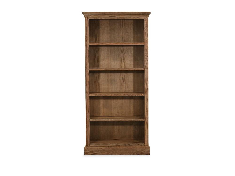 "33"" Casual Five-Shelf Bookcase in Glazed Oak"