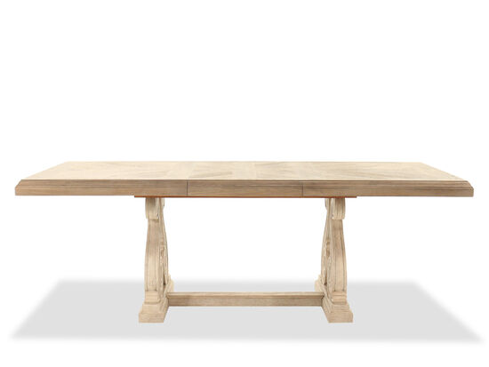 Traditional Rectangular Trestle Dining Table in Light Oak