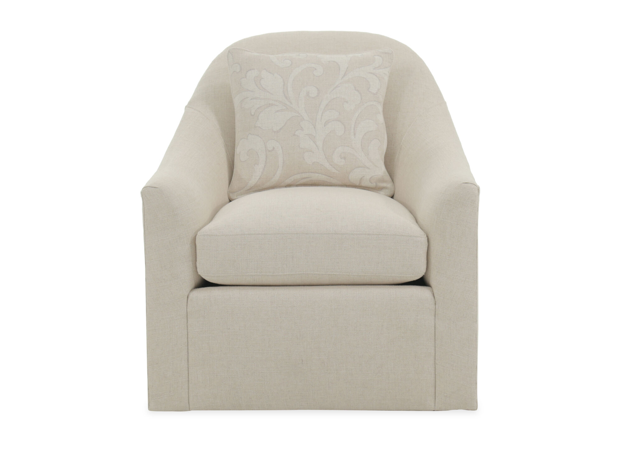 Contemporary 31 Quot Swivel Chair In Beige Mathis Brothers