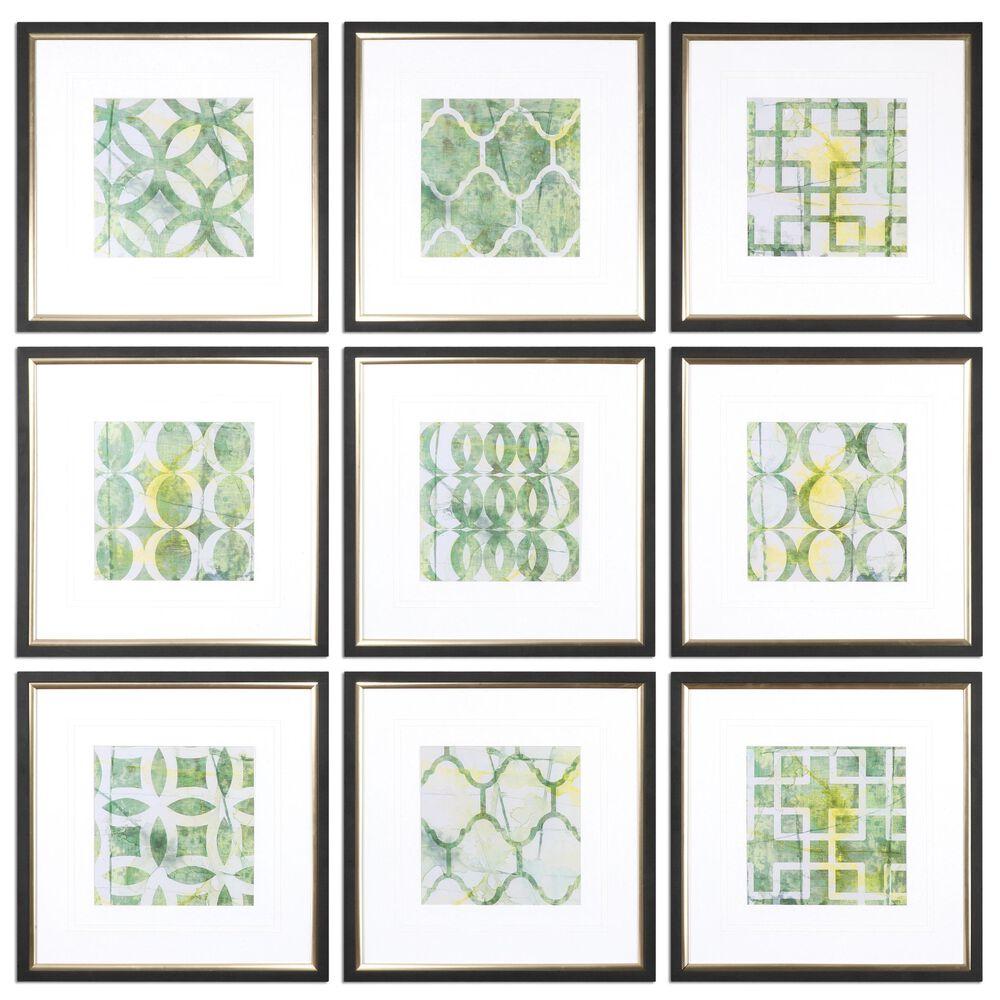 Nine-Piece Geometric Printed Wall Art Set