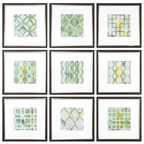 Nine-Piece Geometric Printed Wall Art Set