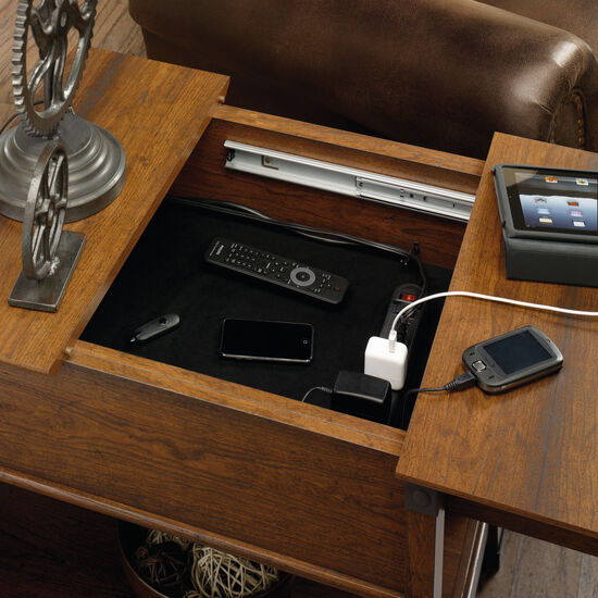 Smart Center Side Table In Washington Cherry Mathis Brothers Furniture