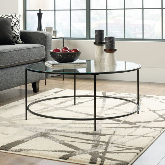 Round Contemporary Coffee Table in Black