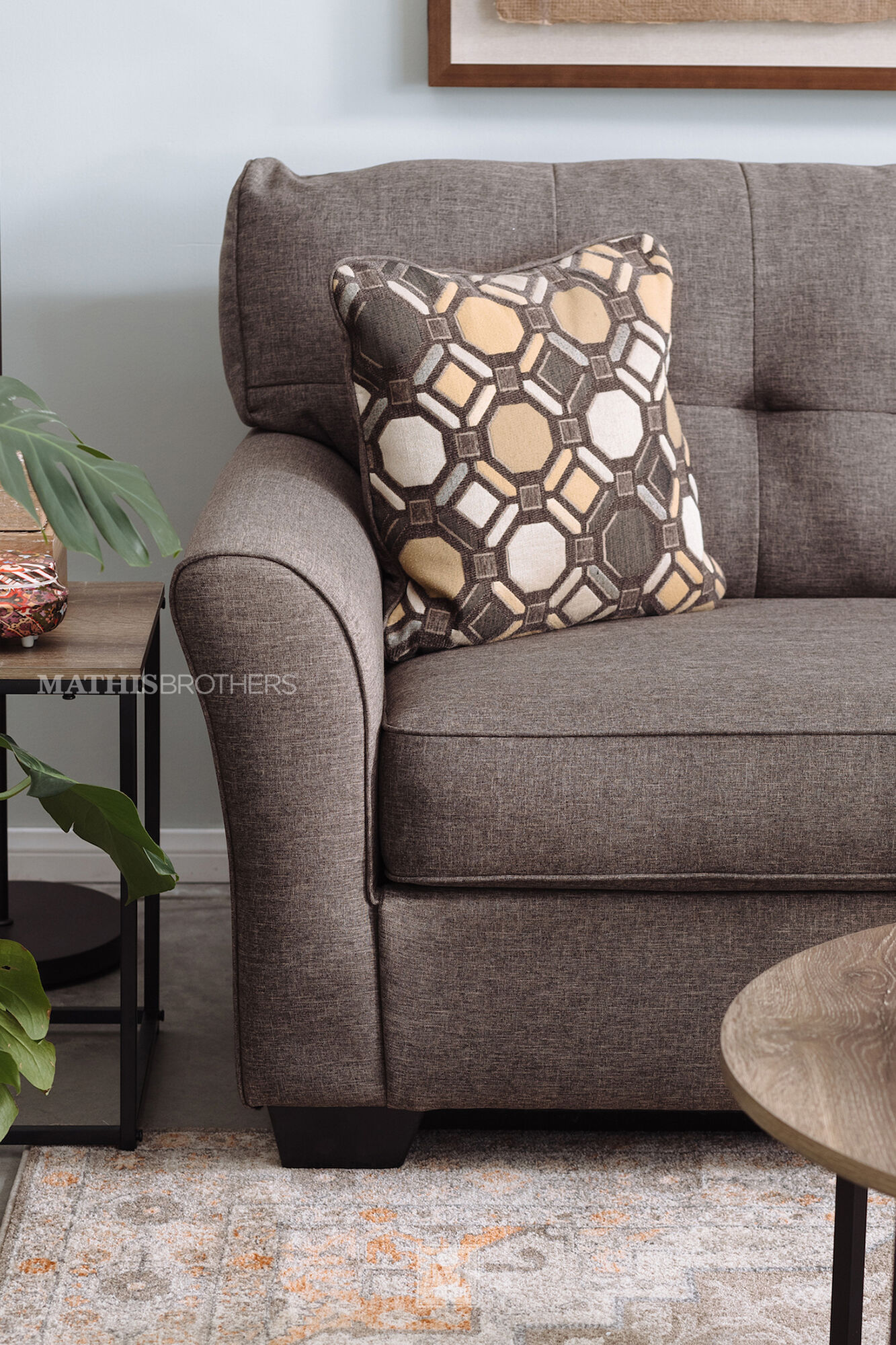 Contemporary button tufted 78 sofa