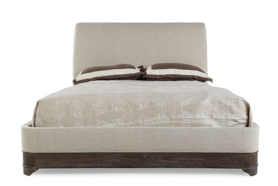 "63"" Radiata Solid Sleigh Bed in Gray"
