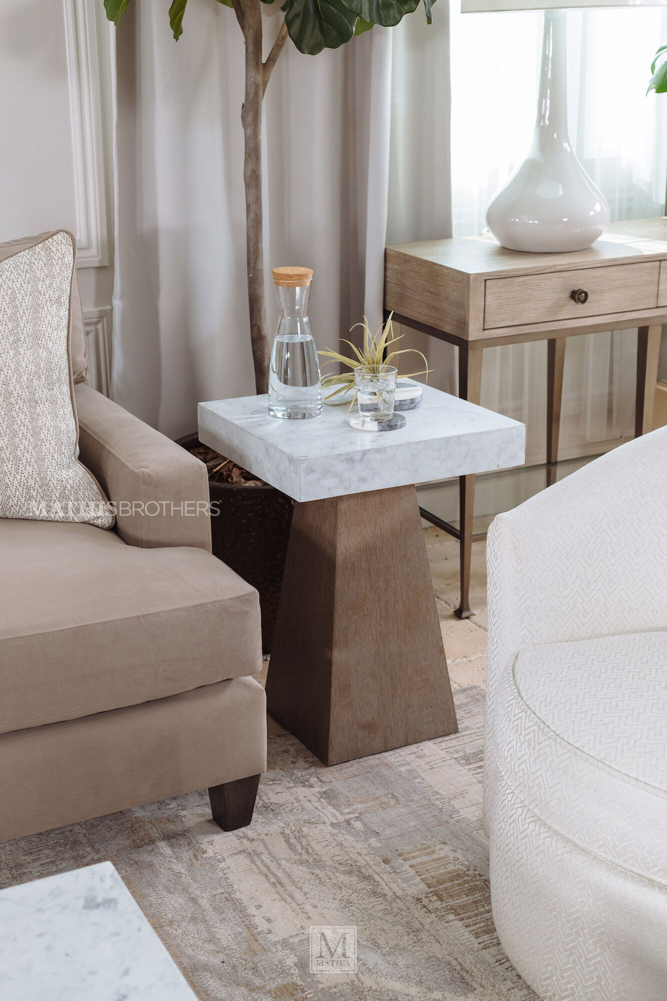 Transitional Martini Table In Flaky Oak Mathis Brothers Furniture