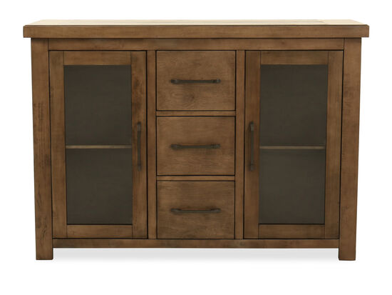 Three-Drawer Traditional Server in Brown