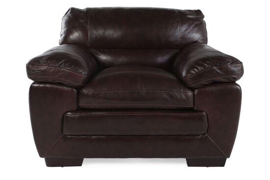 "Contemporary Leather 47"" Chair in Espresso"