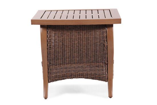 Storage Shelf Contemporary Coffee Table in Dark Brown